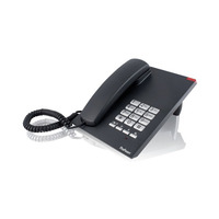 Profoon TX-310, Mute, Flash, Pause, 10 numbers, Zwart DECT-telefoon